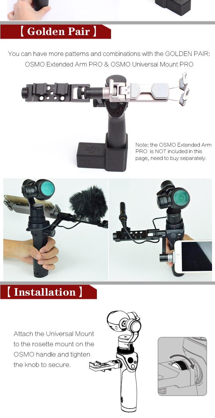 Sunnylife DJI OSMO Accessories Adjustable Accessory Pro Universal Mount Frame Bracket Holder for DJI OSMO Mobile Handheld Gimbal 3