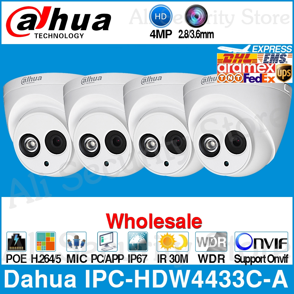 Dahua Wholesale IPC-HDW4433C-A 4MP HD POE Network Starnight IR Mini Dome IP Camera Built-in MiC Onvif CCTV From IPC-HDW4431C-ADahua Wholesale IPC-HDW4433C-A 4MP HD POE Network Starnight IR Mini Dome IP Camera Built-in MiC Onvif CCTV From IPC-HDW4431C-A
