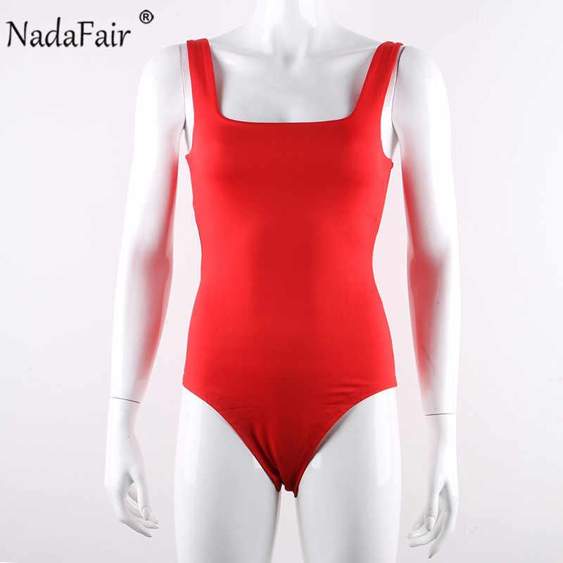 Nadafair чарующие боди неоновый женский квадратный воротник с открытыми плечами с открытой спиной летние топы Femme облегающие комбинезоны