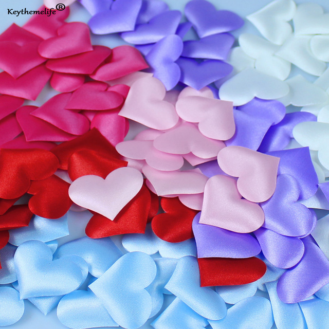 100pcs/bag Heart Shape Petals Wedding Valentines Day Throwing Table Decoration Party Supply 3.5*3.5cm