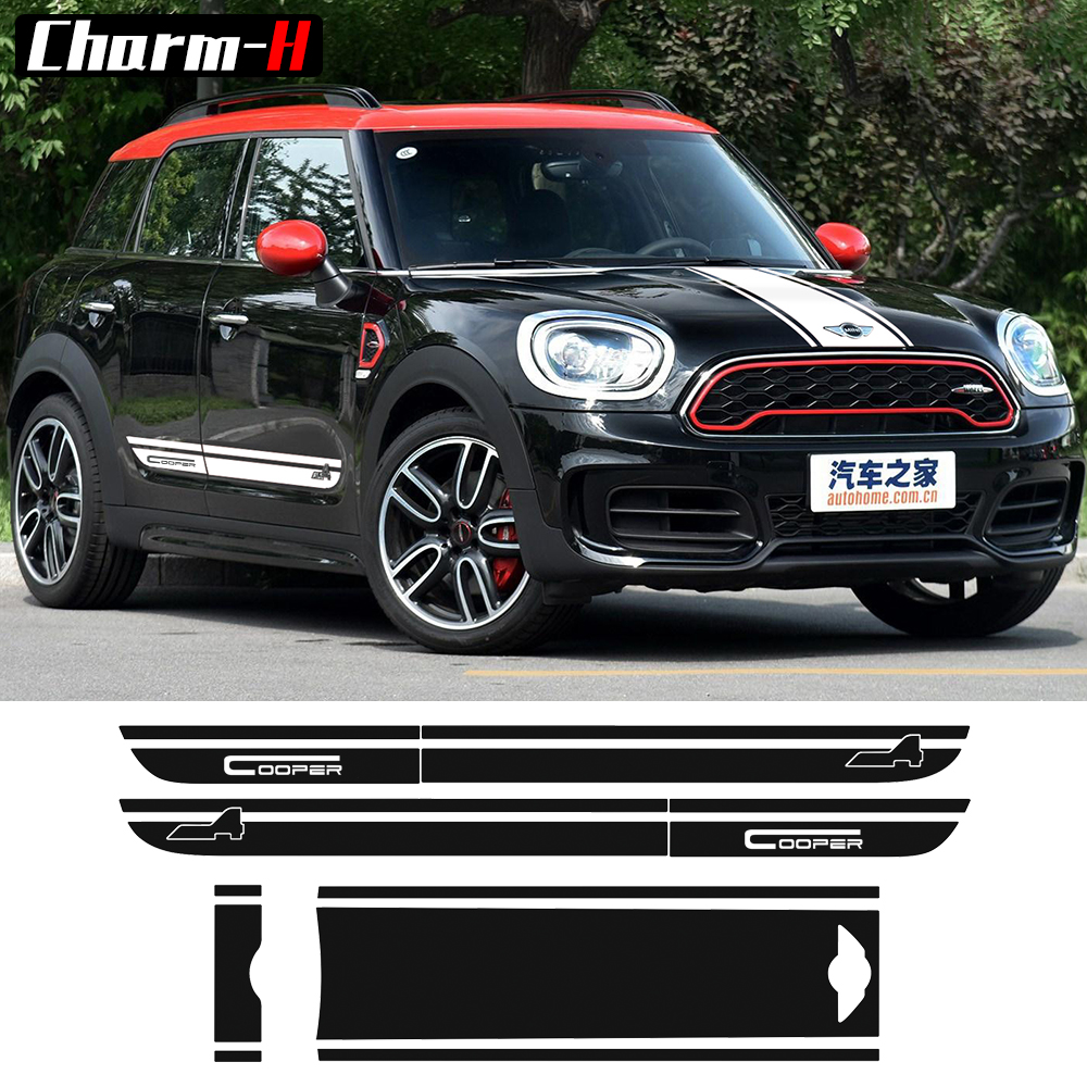 For BMW Mini Cooper All4 Graphic Hood Trunk Bonnet Rear Side Stripes Decal Countryman F60 2017-Present Stickers набор приспособлений для обслуживания грм двигателя bmw n12 mini cooper jonnesway al010079