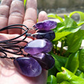 10pcs 100% of the natural purple crystal pendant Quartz stone 7 chakra crysta necklace with stones healing crystals