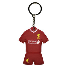 World Football Club International Country Team Keychains Inflatable Soft Rubber Jersey Key Ring