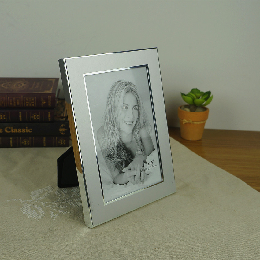 simple style silver aluminum photo frame trendy