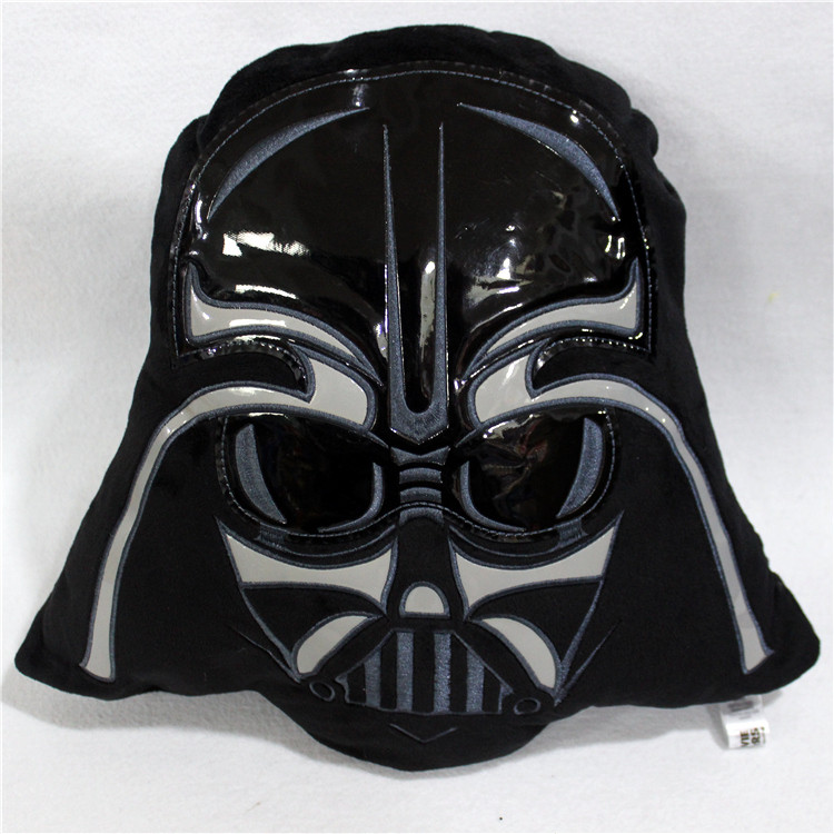 1 pcs 35 cm Nova de Star Wars Darth Vader Rosto Travesseiro Almofada de Pelúcia Para Meninos Das Meninas Crianças de Pelúcia Brinquedos Para Crianças presentes