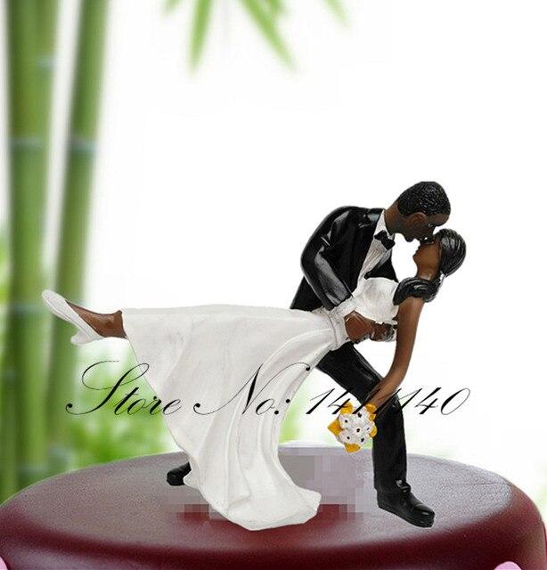 Peau noire Danse Mariée et le Marié Couple Figurine De Mariage