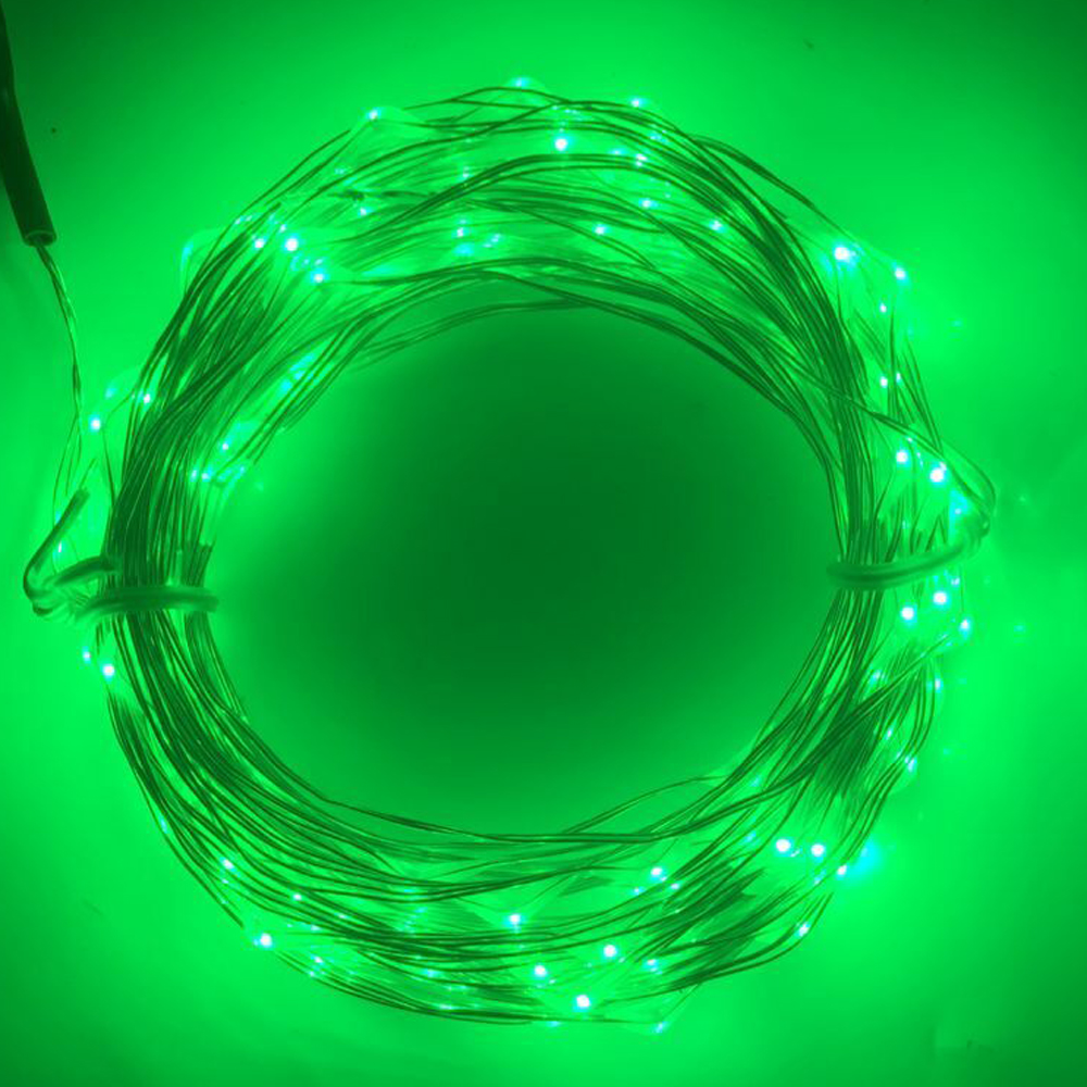 Image 3 - 10M 5M 100 50 LED 3XAA Battery LED String Lights for Xmas Garland Party Wedding Decoration Christmas Tree Flasher Fairy Lights-in LED Strips from Lights & Lighting