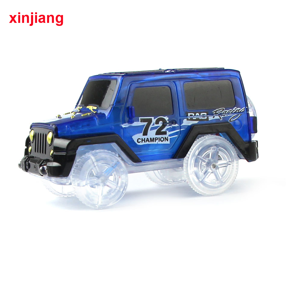 <font><b>Electronic</b></font> LED <font><b>Car</b></font> Flashing <font><b>Toys</b></font> Vehicles Mini Race Track SUV <font><b>Car</b></font> Flexible Racing Model <font><b>Car</b></font> Glowing Race Track <font><b>Toys</b></font> For Kids } image