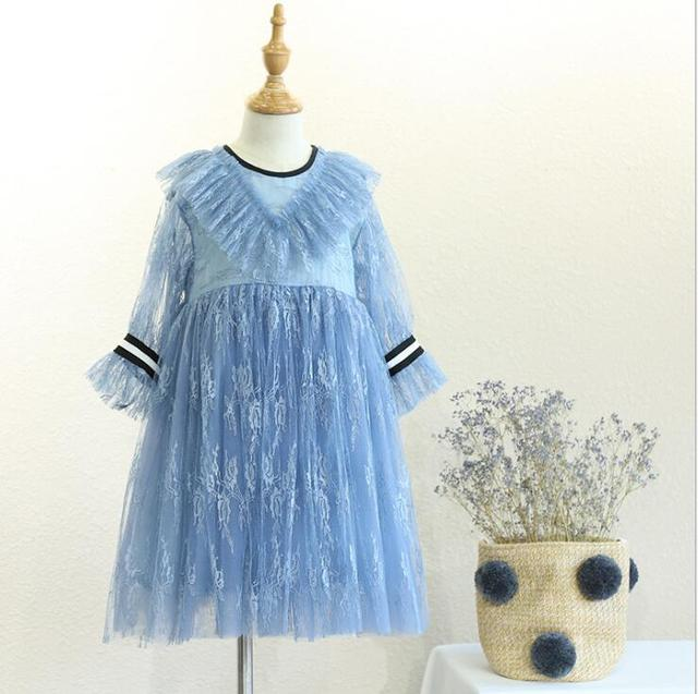 701f850a8 2018 Fall Baby Kids Boutique Fairy Lace Mesh Dresses