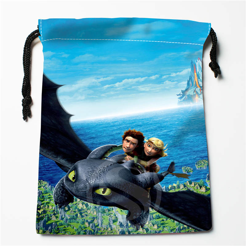 T&w164 New How To Train Your Dragon Custom Printed  Receive Bag Compression Type Drawstring Bags Size 18X22cm F725&164wx
