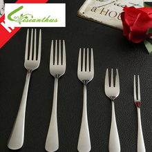 High Quality Stainless Steel Kitchenware Metal Silver Fork Steak Fork Fruit Salad Fork Dinnerware Kitchen Cutlery Free Shipping