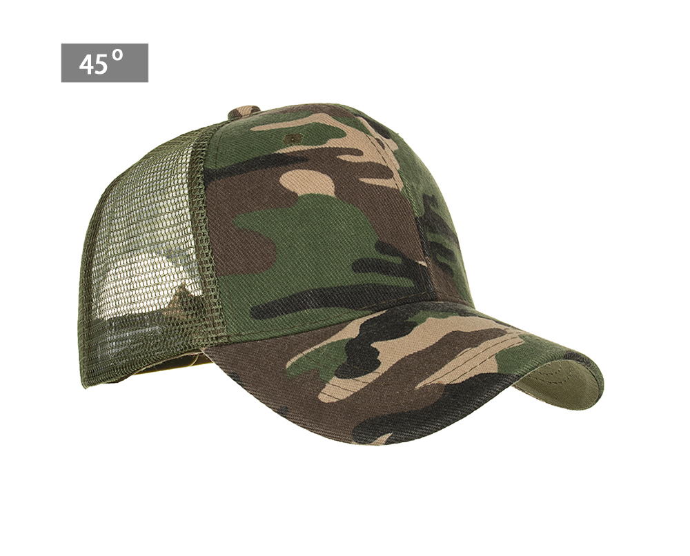 cd9a22d4c Details about Camouflage Mesh Trucker Cap for Men - Camo Plain Mesh Trucker  Hat Adjustable