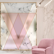Dicor New Fashion Modern Pink Geometry Glass Film Window Stickers In Decorative Films Home Decor for Living Room or Bathroom AB fashion in film