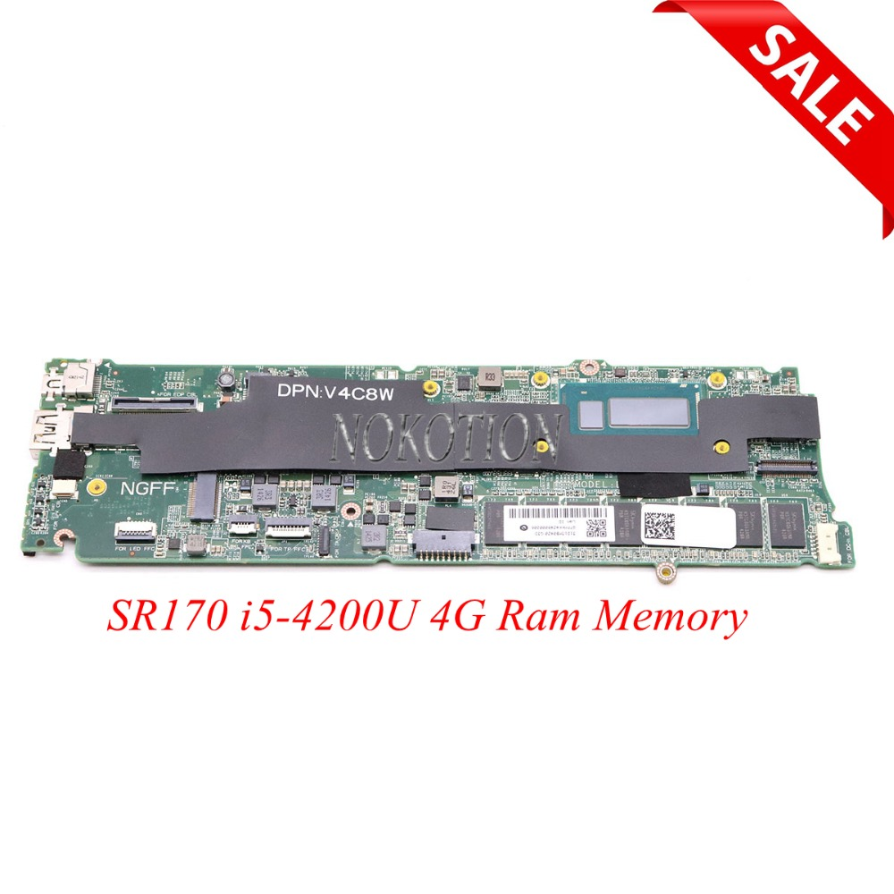 Joutndln For Dell Xps 9333 Laptop Motherboard Dad13cmbag0 Cn-0xj70r 0xj70r Xj70r W/ I5-4200u Cpu 4gb Ram Computer & Office Laptop Accessories
