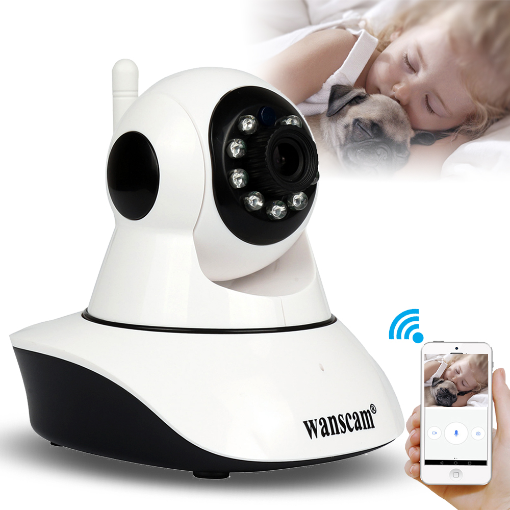 Wanscam P2P CCTV Security Wireless HD 720P/1080P Wi-Fi IP Camera Motion Detection Pan/Tilt 2 Way Audio Night Vision Baby Monitor 720p ip camera wi fi pan tilt baby monitor wireless network security cctv camera plug and play two way audio day night hiseeu