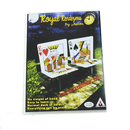 Free shipping! Royal Rendezvous (DVD+Gimmick) - Card Magic Tricks,Street Magic,Close Up ,Mentalism,Stage,Fun,Illusions