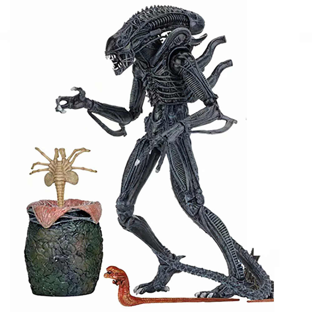4 Pcs/set Alien 1986 Hitam Abu-abu Alien Telur Facehuggers Chestburster Aksi Model Mainan Boneka