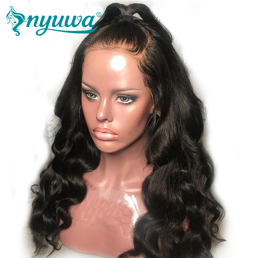 Silk Base 13x6 Lace Front Wigs Pre Plucked Body Wave Silk Top Human Hair Wig 150% Brazilian Remy Hair For Women Natural Black