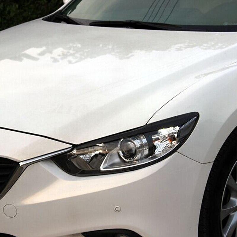 E Tezi En Fiber De Carbone De Voiture Phare Sourcils Paupières Cover Version pour Mazda 6 2014-2016