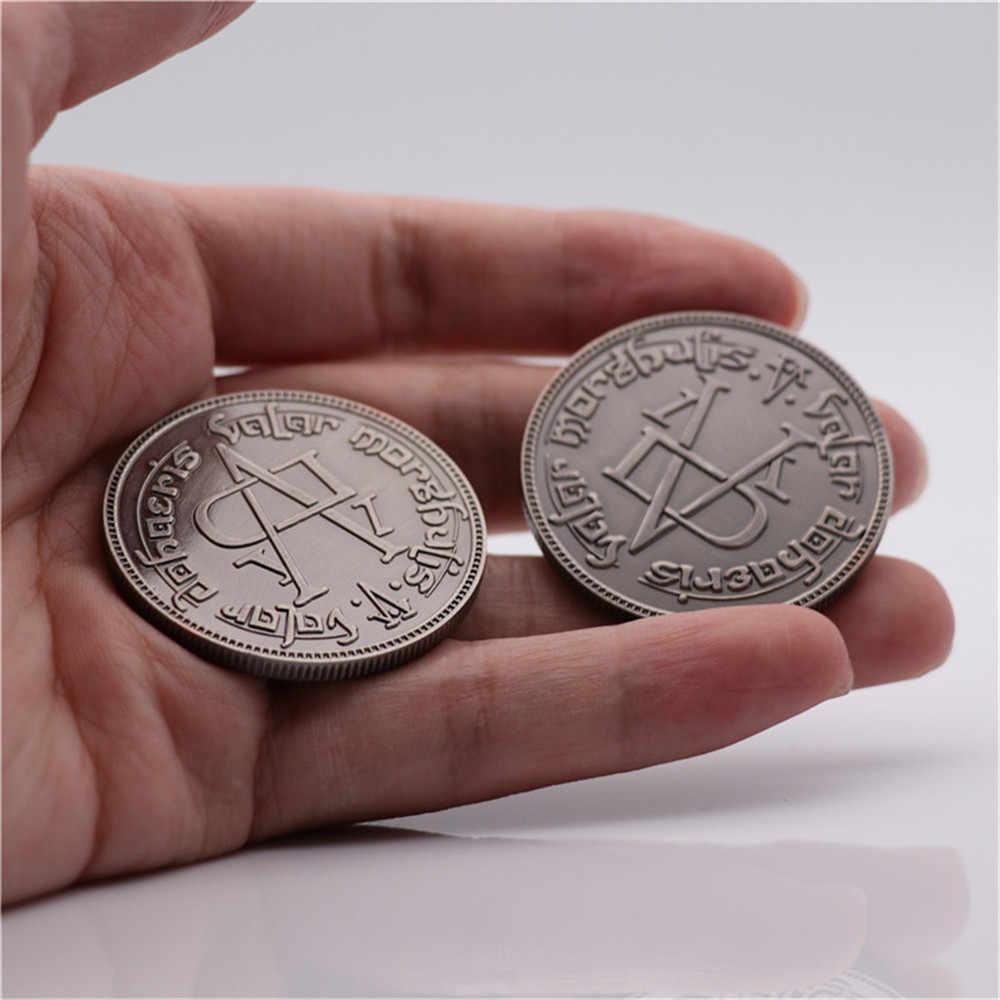 Een Lied Van Ijs En Vuur Game Of Thrones Cosplay Prop Braavos Faceless Coin Valar Morghulis Jaqen H'ghar Arya Stark badge Speelgoed Nieuwe