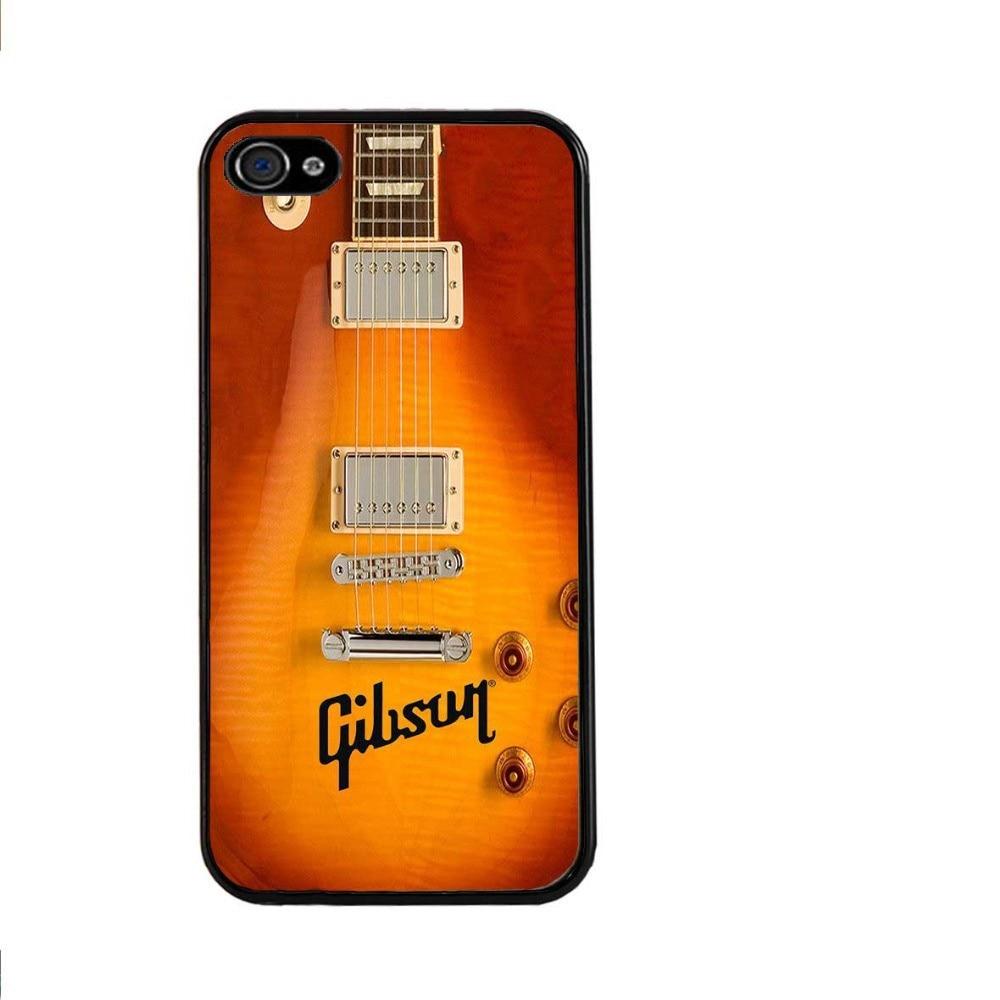 New 2015 Gibson Guitar American Music Les Paul Acoustic Sunburn Plastic Hard Cover Case for iphone 4/4s/5/5s/5c/6/6plus