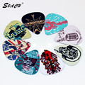 SOACH 10pcs/Lot 0.71mm thickness guitar strap guitar parts Singing Rock gestures music elements mixed pattern guitar picks