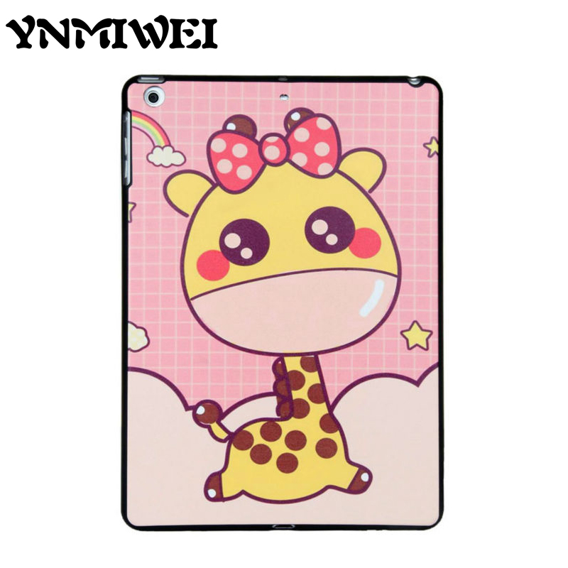 TPU Tablet Case Cover For ipad air 1 2 Colorful Print Shockproof Slim Anti-dust Protective Stand for iPad 5 6 9.7'' Cartoon Case tpu case cover for ipad air