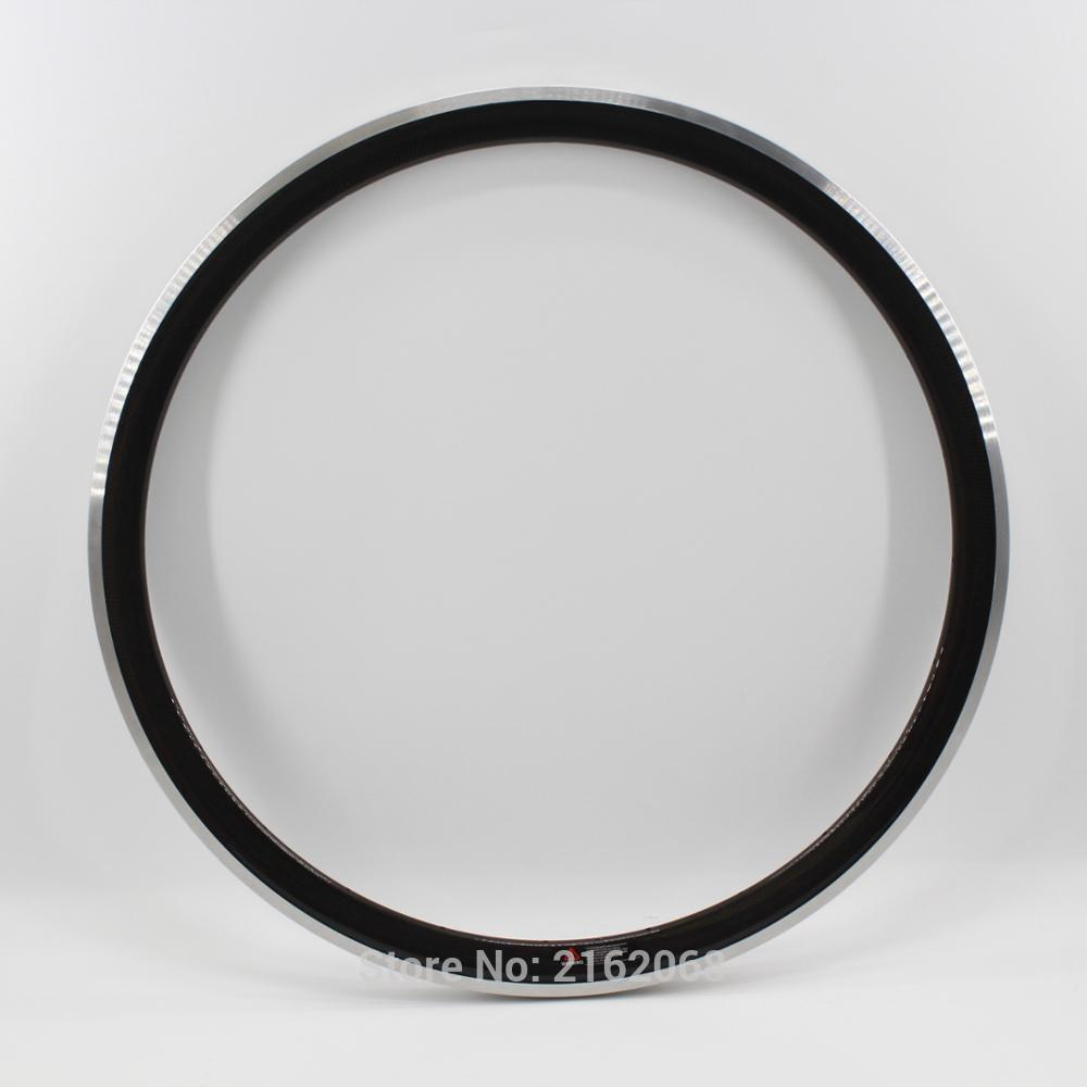 Newest lightes 700C 38mm clincher rim Road bike 3K carbon bicycle wheels rim with alloy brake surface Free ship