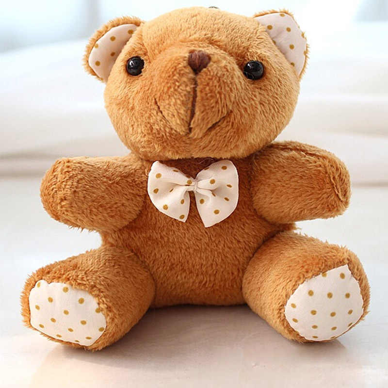 30 шт/лот Kawaii небольшое соединение плюшевых мишек с бантиком 10 см игрушка плюшевый мишка маленький медведь Ted Плюшевые игрушки подарки 078