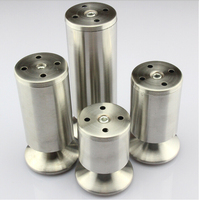 Stainless Steel Cabinet Furniture Legs Sofa Coffee Table Leg 20CM High 4PCS