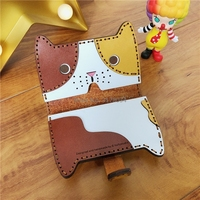 Japan Steel Blade DIY leather craft cute cat card holder bag die cutting knife mould hand machine punch tool set 115x78mm
