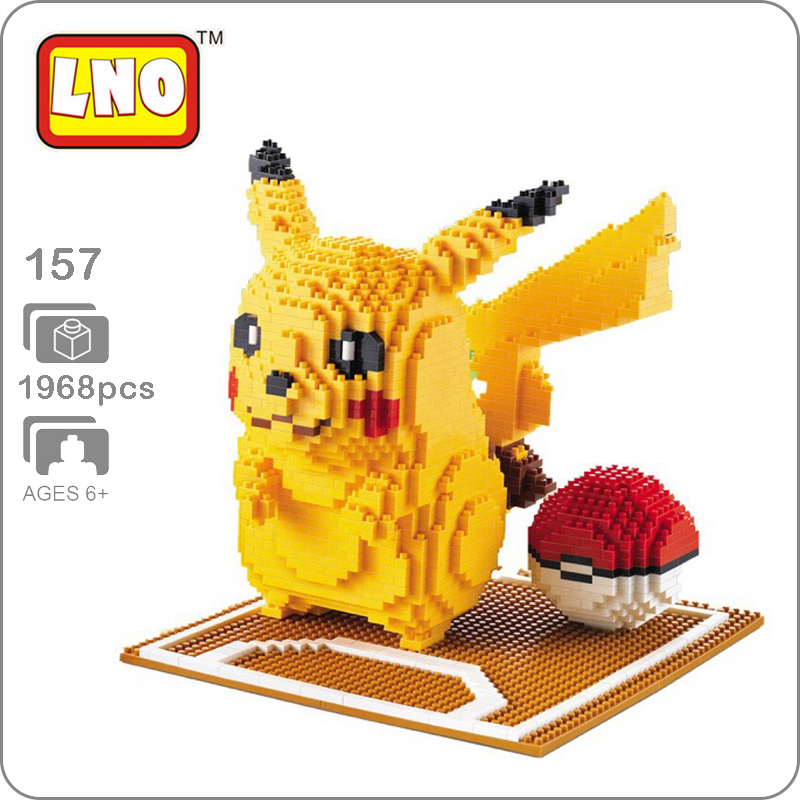 Blocks Devoted Lno 157 Game Pikachu Poke Ball Pocket Monster 3d Model 1968pcs Diy Diamond Mini Building Nano Blocks Bricks Assembly Toy Gift Driving A Roaring Trade