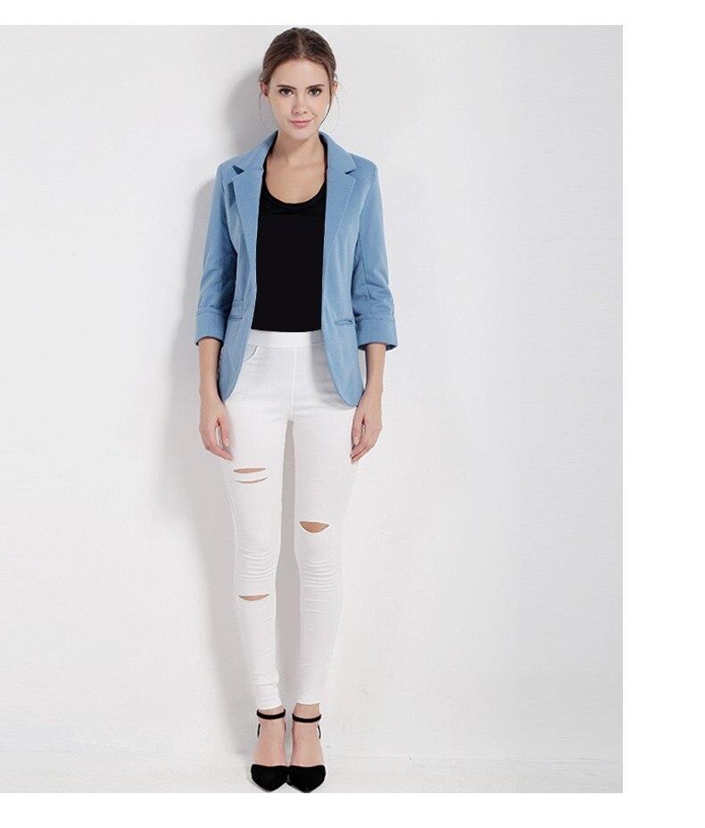 HDY Haoduoyi Women Slim Fit Blazer Jackets