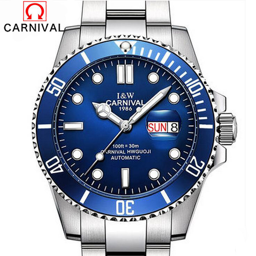 Carnival Series Waterproof Luxury Sport Automatic Mechanical Men Watches Business Casual Watch Relogio Masculino