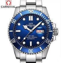 Carnaval Submariner Serie Impermeable de Lujo Del Deporte Mecánico Automático Relojes de Los Hombres de Negocios Casual Reloj Relogio masculino