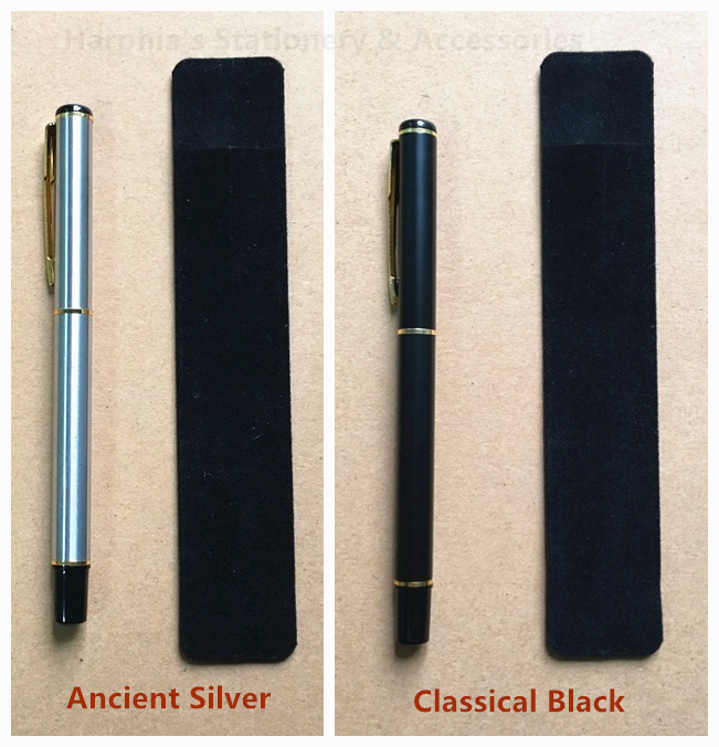 Classical Stylish Copper Roller Ball point Gel Pen with Non-woven fabric bag pack for gift stationery smooth writing