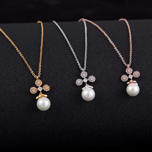 Silver18K GoldRose GoldPlated Jewelry Sets Small Simulated Pearl