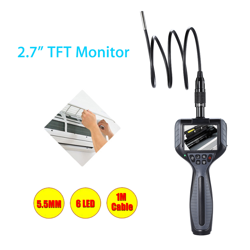 Endoscopique 5.5mm Lens Endoscope 1M Snake Tube Pipe Borescope Inspection Surveillance Inspector Video Diagnostic CameraEndoscopique 5.5mm Lens Endoscope 1M Snake Tube Pipe Borescope Inspection Surveillance Inspector Video Diagnostic Camera