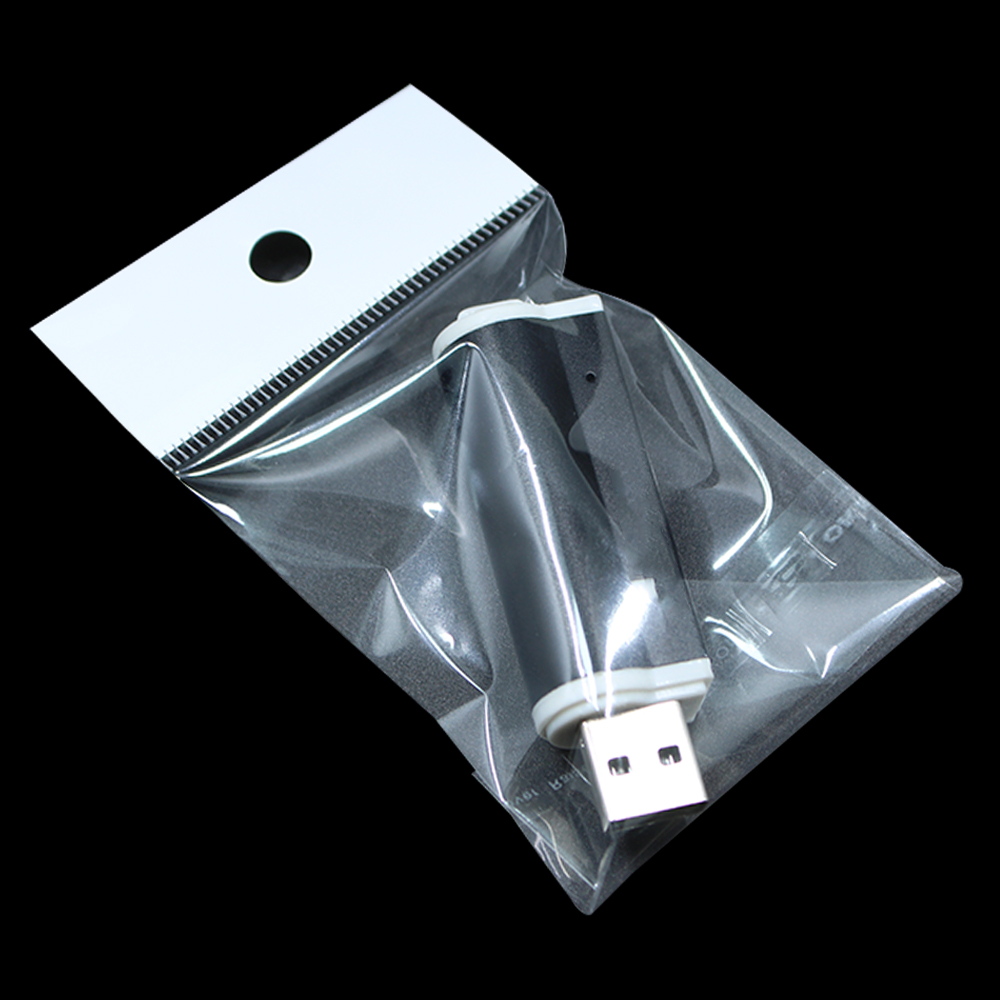 10x18 cm Self Adhesive Clear Poly Plastic Packaging Bags Hang Hole Self Seal OPP Packing Pouch for Electronic Products Accessory