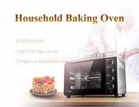 32L 220V Electric Oven Household Automatic Baking Machine for Bread/ Cake Enamel Liner Pizza Oven Multifunction Baker CRTF32K