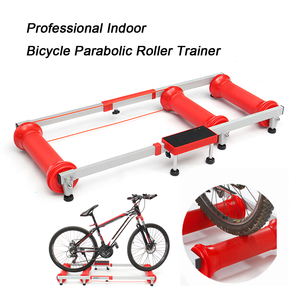Professional Cycling Trainer Bicycle Trainer Rollers Bicycle Indoor Training Station Folding Parabolic Bike Trainers Red Box flanger professional pianist orthotics piano trainers