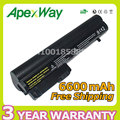 Apexway 6600mAh 9 Cell Battery for HP Business Notebook 2400 2510p NC2400 412779-001 2530p 2540p EH768AA HSTNN-FB21
