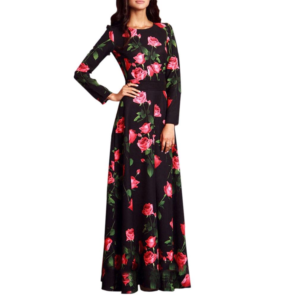 dbf7068778 De Señoras Casual Vestidos Vestido Fiesta Playa Impreso Larga Suelto Yl Verano  Largo Primavera Bohemio azul Vintage Floral Mujeres ...