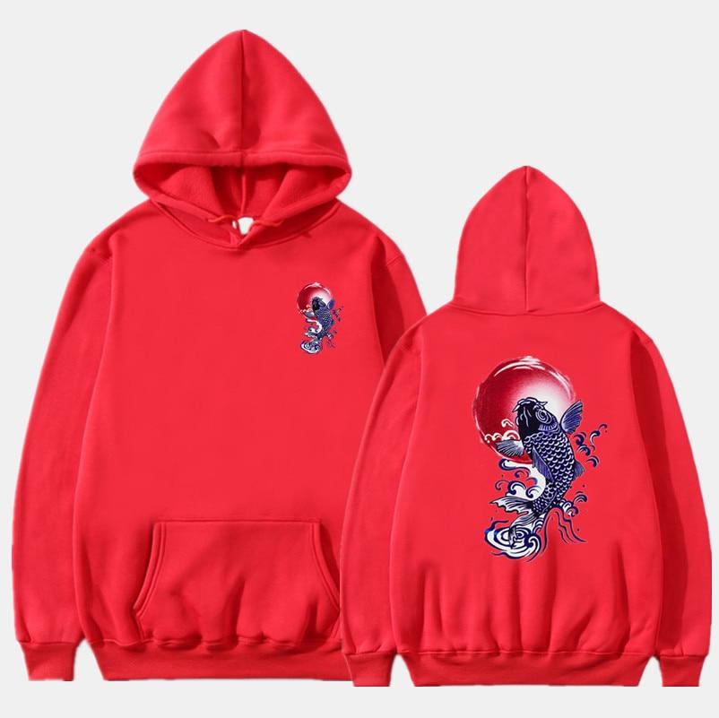 Newest Japanese Funny Cat Wave Printed Fleece Hoodies 19 Winter Japan Style Hip Hop Casual Sweatshirts KODAK Streetwear 9