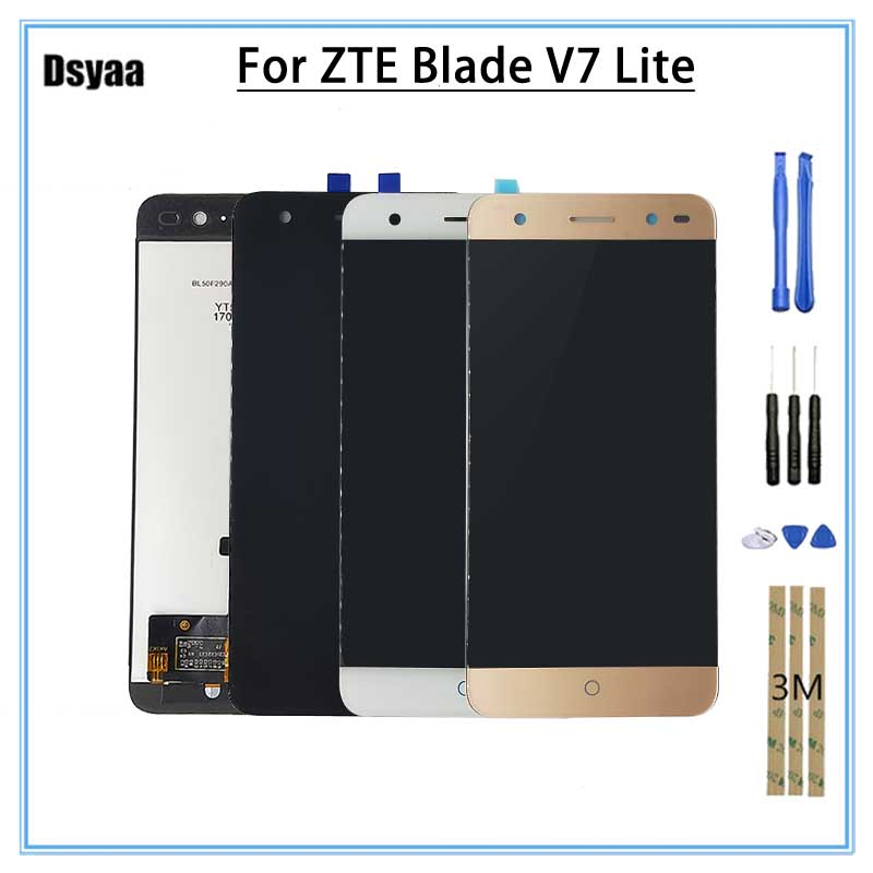 Replacment 5.0 For ZTE Blade V7 Lite LCD Display Touch Screen Digitizer Assembly No Dead Pixcel With Free Tools