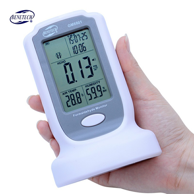 100% Original BENETECH GM8801 Handheld digital Formaldehyde detector meter HCHO Gas analyzer tester 0-3mg/m3 Air quality monitor gm8804 hcho pm2 5 pm10 gas detector digital formaldehyde detector formaldehyde monitor air quality meter 0 5000ug m3