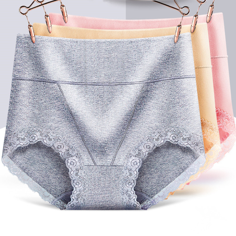 95% Cotton Lingerie   Panties   For Women Underwear High-rise Briefs Lace Ropa Interior Femenina High Waist Plus Size   Panties   108