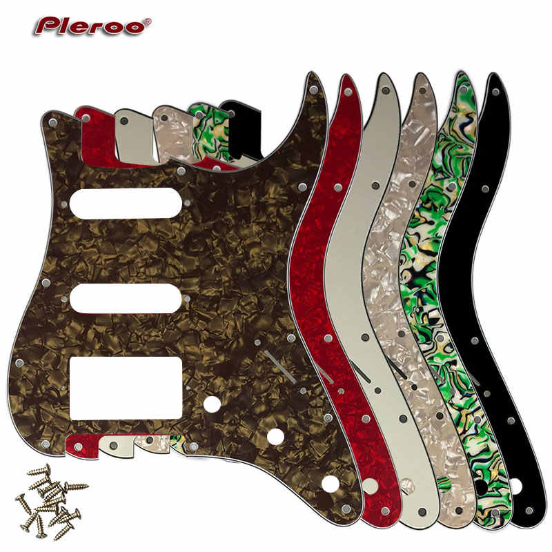 Quality Electric Guitar Parts For USA\ Mexico Fd Stratocaster 11 Holes HSS PAF Humbucker Guitar pickguard Scratch Plate