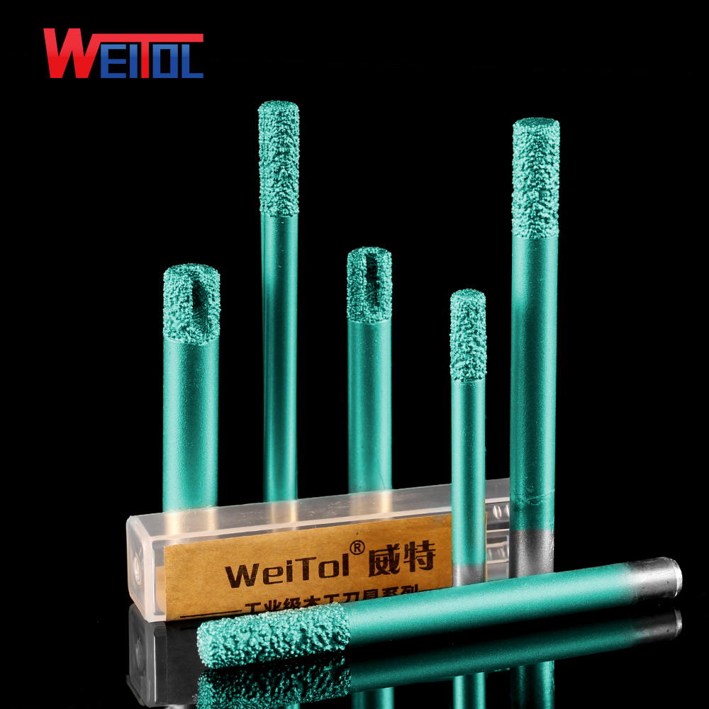 Weitol Free Shipping 6/8/12mm Brazing Stone Engraving Bits Marble Granite Router Bits For CNC Engraving Machine Carving Tool