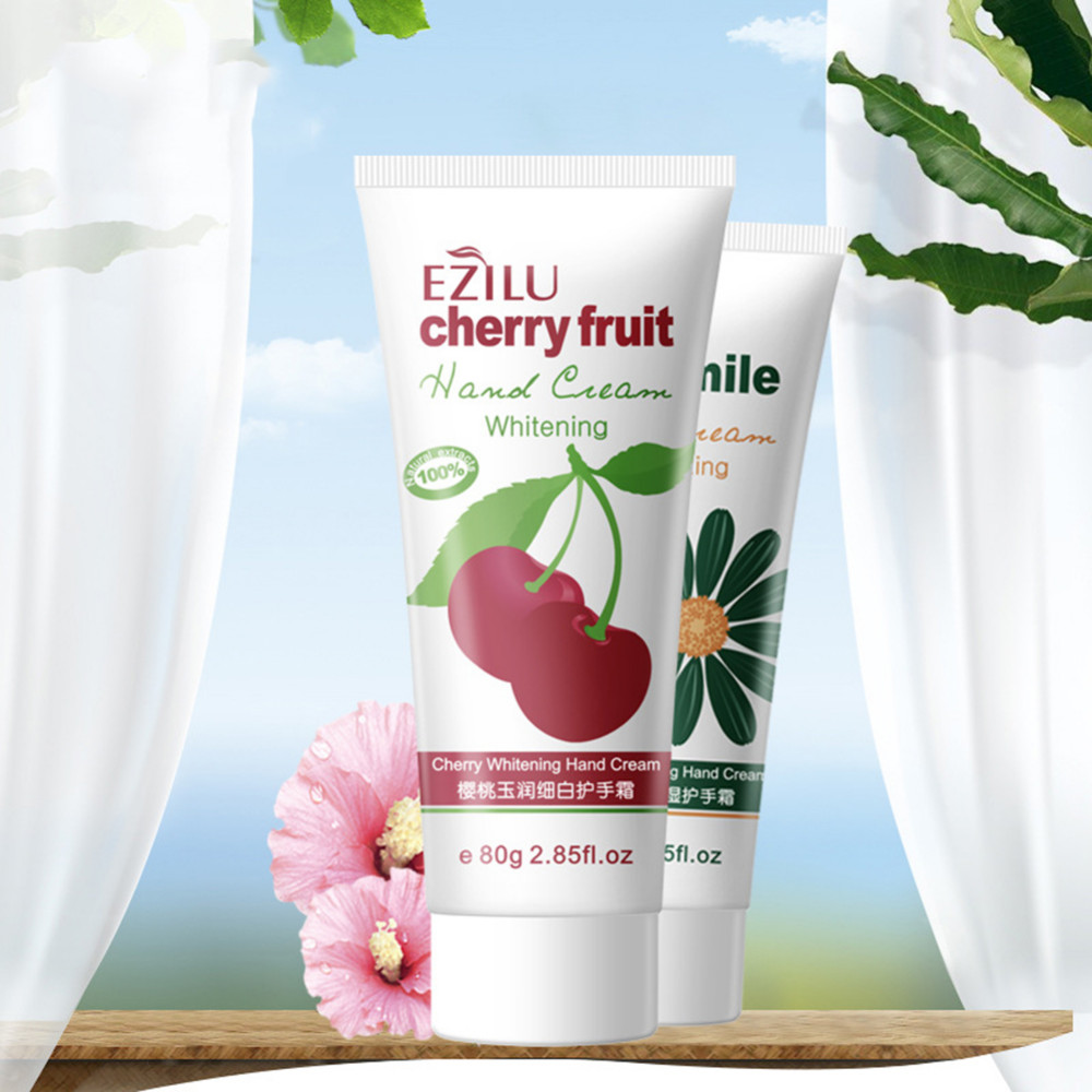 1pcs 80g Cherries Whitening Camomile Moisturizing Hand Creams Lotions Hydrating moist types the chamfer hand cream for Hand Care 4